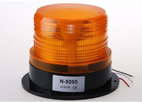 ambulance bus - High intensity DC12V V led car warning round beacon emergency lights for police ambulance fire school bus machine waterproof