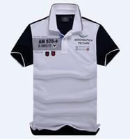 air force t shirts - summer men s brand of high quality cotton T shirt AERONAUTICA MILITARE Air Force One T shirt men s jacket lapel