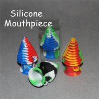 Wholesale Silicone Jars mouthpiece glass pipes Non stick Silicone Container For Wax Bho Oil Butane Vaporizer Silicone Jars Dab Wax