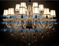 Wholesale Lights Traditional Luxury Large Crystal Ceiling Chandelier Lamp Classical Glass Chandelier Light Lighting for Lobby