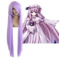 athena wig - Promotion Saint Seiya Athena Saori Kido cm Long Straight Purple Anime Cosplay Wig ePacket