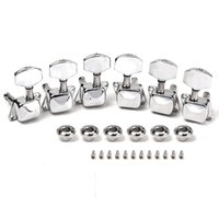 Wholesale High Quality Chrome x3 Semiclosed Tuning Pegs Machine Heads for Acoustic Guitar High Quality Free Shipp