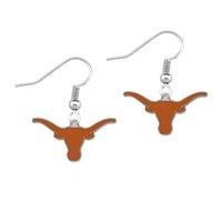 american flag earrings - University Of Texas Longhorns Sports Fans Earrings Female Football Team Alloy Drip Earrings Diy Sport Earring For Football Fans Best Gift