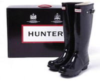 Wholesale HUNTER ORIGINAL HUNTRESS RAIN BOOTS BLACK GLOSS
