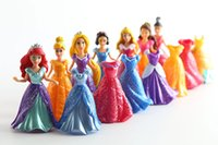 Wholesale 7 Princess Doll Dresses Set Change Easy Dress Clothes Many Princess Dolls Toys Figures Doll For Girls Kids Christmas Gifts Bonecas