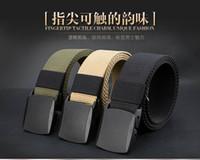 Wholesale Outdoor men s sports camping adventure climbing nylon fabric belt auto lock army green casual belt waist support