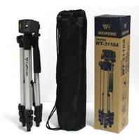 Nuevo trípode de cámara DIGITAL Soporte de cabeza WT-330A Trípode ligero para Sony Nikon Canon Trípode extensible con bolsa de transporte