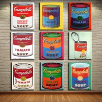 andy warhol canvas print - andy warhol set campbell s soup can beef oil painting Prints Painting on canvas No frame Pictures Decor For Living Room