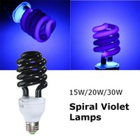 Wholesale Lowest Price E27 W Spiral Enegy Saving UV Ultraviolet Fluorescent Black Light CFL Light Bulb Violet Lamps V nm