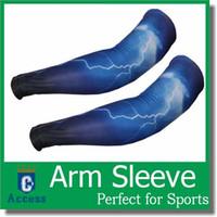 basketball armbands - Basketball Sport Skin Arm Sleeve UV Cover Sun protective Cooling Stretch Armband