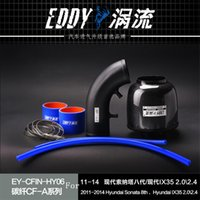 Wholesale Fit For Hyundai Sonata th IX35 Fine Quality Racing Brand EDDYSTAR Carbon Fiber Cold Air Intake System Air Filter