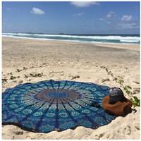 Wholesale CM Circle Yoga Blanket Bohemian Mandala Round Beach Tapestry HippieYoga Mat Towel Indian design kinds of pattern yoga blanket