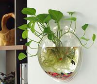 aquarium for sell - Hot sell goldfish acrylic aquarium Ecological transparent wall aquarium round shape for home decor