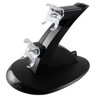 airplane stand - Dual Charging Stand USB Charger Dock Station for Playstation DualShock PS4 XBOX ONE Controller Gamepad Mount Holder LED Light Airplane