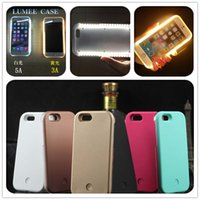 Wholesale iphone7 samsung note S6 s7 edge illuminated selfie cases fill in light selfie cases with LED light cover for iphone plus