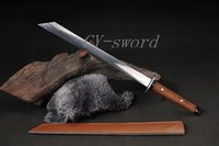 battle quality swords - imitate Chinese Ming Dynasty Kumyiwei battle dao amp sword Carbon Steel High Quality Carbon Steel fittings The pu leather Saya