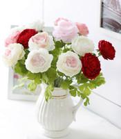 Wholesale artificial flower peony top grade silk flower wedding
