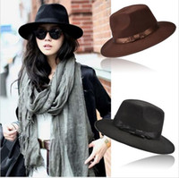 Wholesale Fashion Vintage Hats Womens Mens Trilby Derby Caps Jazz Hats Fedoras Style Top Hats Blower Brand Style Popular Formal Fashion Cap SV009808