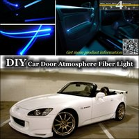Wholesale Tuning Atmosphere Fiber Optic Band Lights For HONDA S2000 Door panel illumination Refit interior Ambient Light