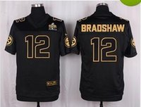american steelers - 2016 New Pro Bowl Men American Football Jerseys Steelers BRADSHAW Black Stitched Jerseys