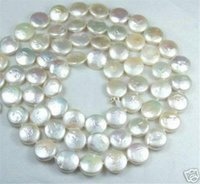 aa anniversary coins - 12MM White Coin Real Natural Pearl Jewelry Gorgeous Necklace quot AA
