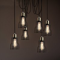 Wholesale Mordern Creative Spider Pendant Lamp Vintage Industrial Style Coffee House Clothes Shop LOFT Lighting Fixture