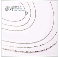 Wholesale 925 silver jewelry sets pendants link chain cm silver color chain five styles new arrival