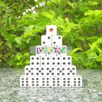 Wholesale 100pcs MM Side Dice WHITE with RED point BLACK point automatic mahjong machine dice bosons IVU