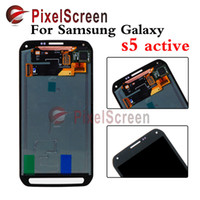 active lenses - For Samsung Galaxy S5 Active G870 G870A Gray Full New LCD Display Panel Touch Screen Digitizer Glass Lens Assembly Replacement
