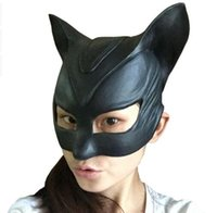batman catwoman costumes - Movie Batman Catwoman Rubber Latex Party Mask Halloween Lady Cosplay Costume Prop