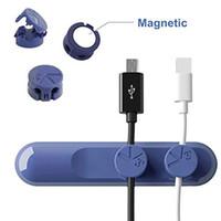 Wholesale Universal Premium Three Colors PC Material Bcase Tup Data Line Organizer Magnetic Button Multipurpose Desktop Cable Clip