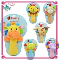 baby toys rings - infant baby toys lovely animal hand bell baby Rattles plush stuffed toy children mobiles sounding educational developmental ring handbell