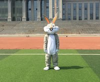 easter bunny costumes - PROFESSIONAL EASTER BUNNY MASCOT COSTUME Bugs gray Rabbit Hare Adult Fancy Dress Cartoon Suit Fancy Dress