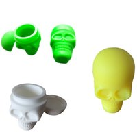 Wholesale 1 Skull Screw Top Silicone Customized Bho Oil Container Silicone Container Wax Take Icky Out Of Sticky Ml
