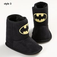 batman winter boots - 3style available Batman baby boots superman leisure baby shoes baby toddler shoes Soft bottom first walker shoes drop shipping pairs