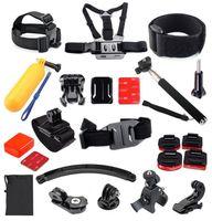 aluminum chest - GoPro Set Kit Bobber Helmet Harness Chest Belt Head Mount Strap Monopod For GoPro Hero2 SJ4000 Camera Accessories GS44