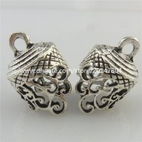 bead jewerly - 19450 Vintage Silver Tone Alloy Hollow Spindrift Flower Filigree Pendant Ends Jewerly