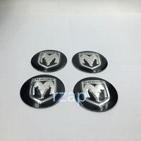 alloy dodge - 4pcs For Dodge Logo Wheel Center Cap Emblem Stickers Alloy mm Hub Cover Cap Badge Decals Car Accessories