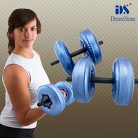 Wholesale Good quality fitness equipment water filled dumbbell adjustable dumbbell with RoHS approved 1 Pair