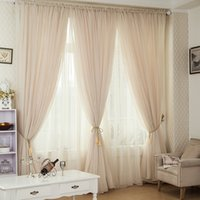 Wholesale 6 Colors Tulle Curtains Cortina Floral Window Voile Sheer Curtain For Bedroom Cafe Voile Curtains For Living Room Hotel Decor