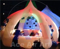 air free spider - m diamiter new style white colorful lighting inflatable spider tent for advertising with free air blower