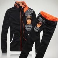 Wholesale Mens Sweat Suits Autumn Brand Mens Tracksuits Sets Jogger Jacket Pants Sporting Suit Hip Hop Sweatshirts Sudaderas Hombre