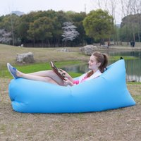 Wholesale Outdoor Sleeping Air Bag lazy bag fast Inflatable Air Bed Hangout Sofa