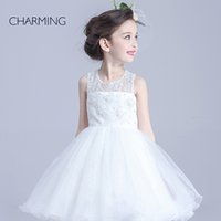 bead supplier make - Flower girl dress sundresses for girls high quality handmade dimensional flowers making china suppliers white flower girl dress