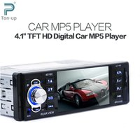 """Cheap 12V 1 Din 4.1"""" TFT HD LCD Display Car Radio Audio MP5 Video Player with FM USB SD AUX Ports Support Rear View Camera"""