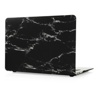 Wholesale Macbook Pro quot quot quot Laptop Case White Marble Stripe Black Hard PC Cases inch