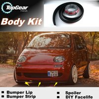 Wholesale Bumper Lip Lips For Daewoo Matiz FSO Formosa Front Skirt Deflector Spoiler For Car Tuning The Stig Recommend Body Kit Strip