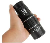 Wholesale Hunting Optics Monocular x52 Dual For Focus Zoom Optic Lens Travel Telescope Tourism Scope Binoculars gift box