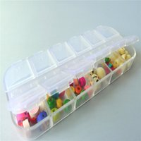 Wholesale New Simple Style Grid Tool Transparent Jewelry Beads Storage Organizer Boxes IN Environmental PP