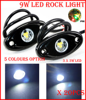 audi offroad - 20PCS Pair quot W x3W Cre LED Rock Light Offroad SUV ATV x4 Truck Trailer Fender Rig Underbody Puddle Light lm White Red Blue G Y